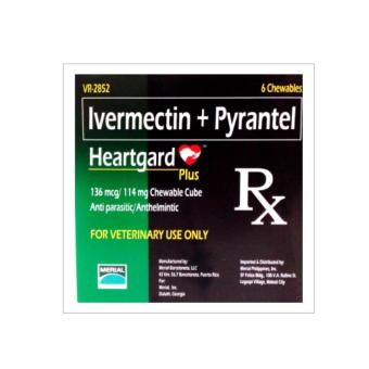 Heartgard Plus Ivermectin + Pyrantel (114mg Dogs 26-50lbs)