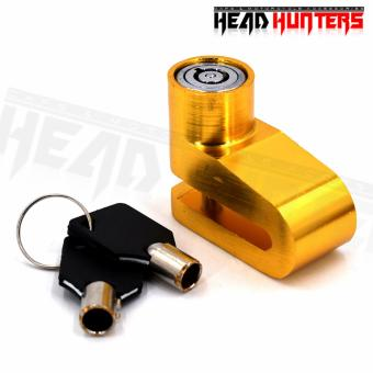 Heavy Duty Motorcycle / Bike Rotor Disc Lock (Yellow)