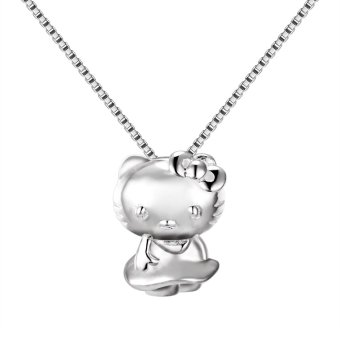 Hello Kitty Pendant Necklace (Silver) Price Philippines