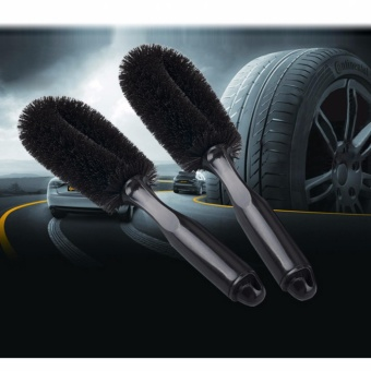 HengSong Auto Care Car Wheel Brush Tire Rim Hub Clean PlasticCoated Wire Wash Washing Cleaning Tool(Black) - intl Price Philippines