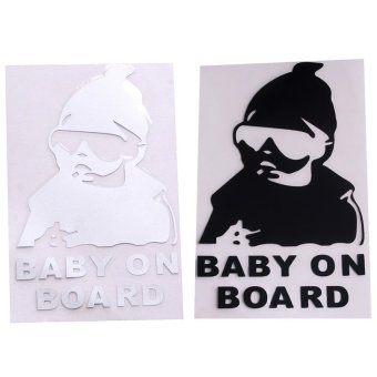 HengSong Baby On Board Universal Safety Reflective Sticker CarAccessories White