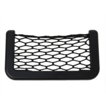 Hengsong Car String Storage Holder Pocket Net Mesh Bag (Black)