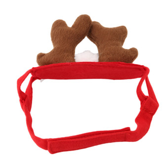 HengSong Elk Pet Dog Costume Cap Hat Puppy Teddy Animal ChristmasCosplay Decor - 5
