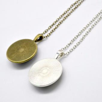 Hequ Bronze Silver Round glass Necklace Steampunk Drama GravityFalls Mysteries BILL CIPHER WHEEL Time Gems Pendant Bronze - intl - 3