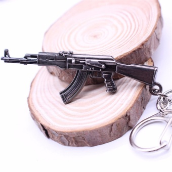 Hequ Hot Game Pendant Keyrings Pop Game CF Cross Fire AK47 Gun KeyChains Weapon Model - intl Price Philippines