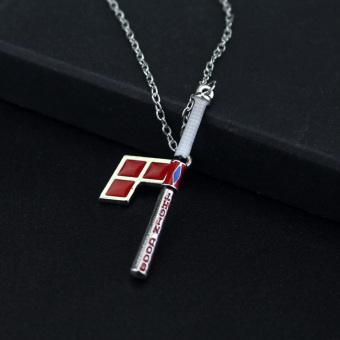 Hequ New Suicide Squad Harley Quinn Baseball Bat Pendant NecklaceWomen And Men Jewelry - Intl - 4