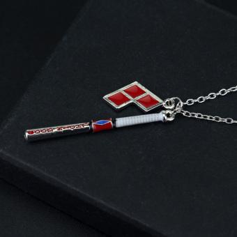 Hequ New Suicide Squad Harley Quinn Baseball Bat Pendant NecklaceWomen And Men Jewelry - Intl - 2