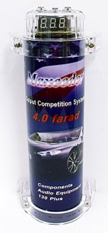 HIGH PERFORMANCE CAR AUDIO POWER CAPACITOR 4.0 FARAD