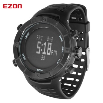 High Quality EZON Multifunctional Outdoor Hiking Climbing SportsWatches with Altimeter Barometer Compass (Black) - intl