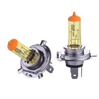 High Quality Promotions 2Pcs H4 55W Lamp 6000K/3000K 12V White/Yellow Fog Lights Halogen Bulb Car Headlight Daytime RunningLightsd0008 - intl