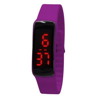 High Quality Unisex Violet Jelly Silicone Strap LED Watch