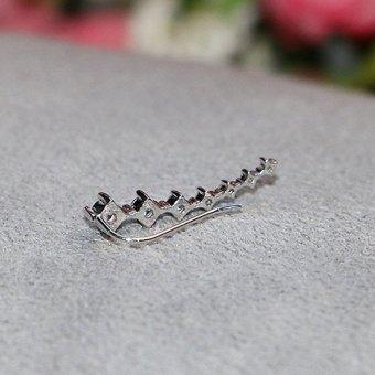 HKS 1 Pair Fashion Arc-shaped Ear Hook Azorite Ear Clip Earring - Intl