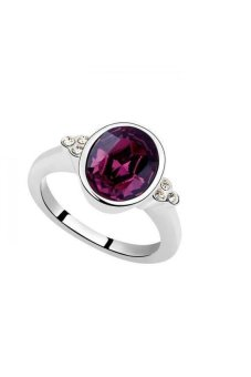 HKS A Tan Moon Austria Crystal Ring (Purple) - Intl