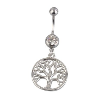HKS Handcrafted Tree of Life Dreamcatcher Belly Ring Navel Ring Body Piercing - Intl