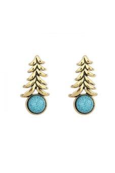 HKS HKS8744QZ Geometric Earrings Blue - Intl