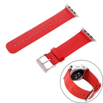 HKS New Genuine Soft Leather Strap Bracelet Band for Apple Watch Red 42mm - Intl - picture 2