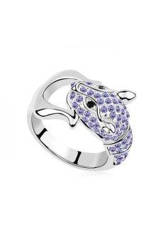 HKS Sweetheart Leopard Austria Crystal Ring (Violet) - Intl