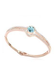HKS The Age Of Innocence Austria Crystal Bracelet (Ocean Blue Rose Gold) - Intl