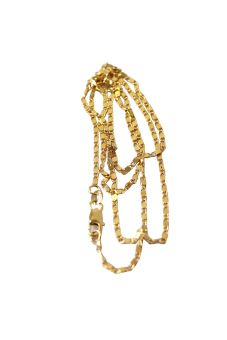 HKS Yellow Gold Filled Rolo Chain Necklace 24 - Intl