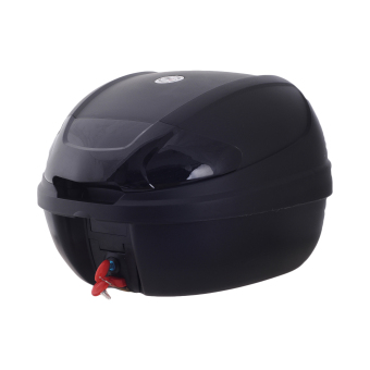 HNJ 002 Tail Trunk Luggage Motorcycle/Scooter Top Box -(Black)