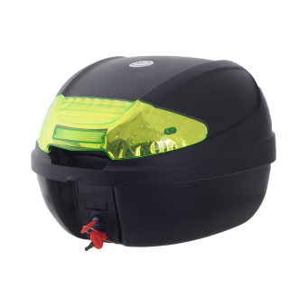 HNJ 002 Tail Trunk Luggage Motorcycle/Scooter Top Box-(Black/Yellow)