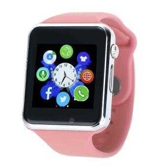 hogakeji Multi-Function Bluetooth Wireless Wrist Watch Smart Watch for Mobile Phone, Pink - intl