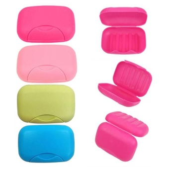 Home Plastic Soap plate Soap Dish Case Holder Container Box forBathroom Travel - intl