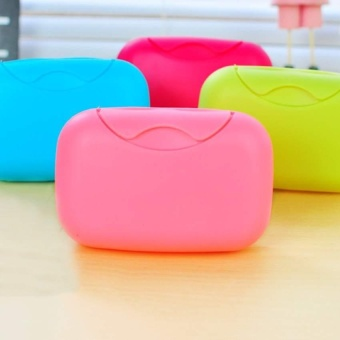 Home Plastic Soap plate Soap Dish Case Holder Container Box forBathroom Travel - intl - 2