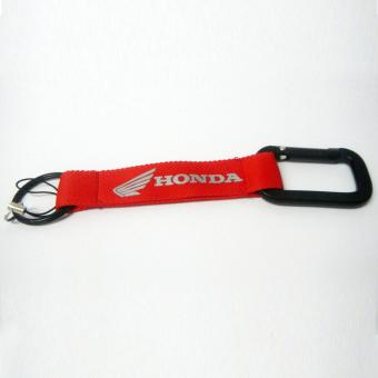 Honda Wings Car Key Chain Polyester Logo Key Ring (Red)