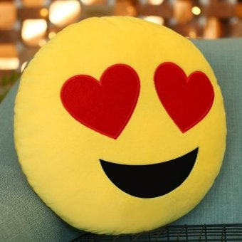 Horny Face Creative Emoji Throw Pillow Back Pillow, Size: 33cm X33cm - intl