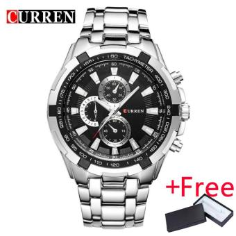 HOT 2017 CURREN Watches Men quartz TopBrand Analog Military male Watches Men Sports army Watch Waterproof Relogio Masculino 8023 - intl