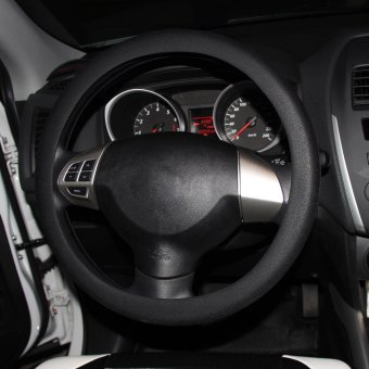 Hot Fashion Soft Silicone Auto Car Steering Wheel Cover Shell Black- intl