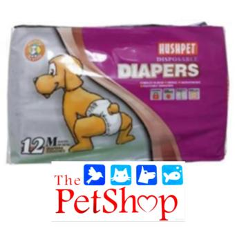 Hush Pet Dog Disposable Diapers (M 12'S Breathable)