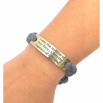 I Am The Master of My Fate; I am The Captain of My Soul Braided Bracelet Bangle 6g