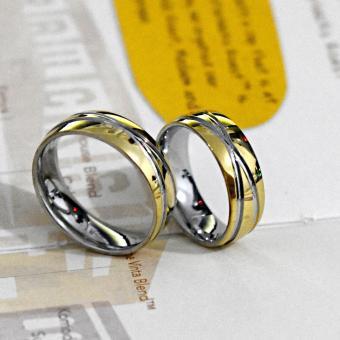 I am Wengski Adonis Couple Wedding Ring (Two Toned) - 2