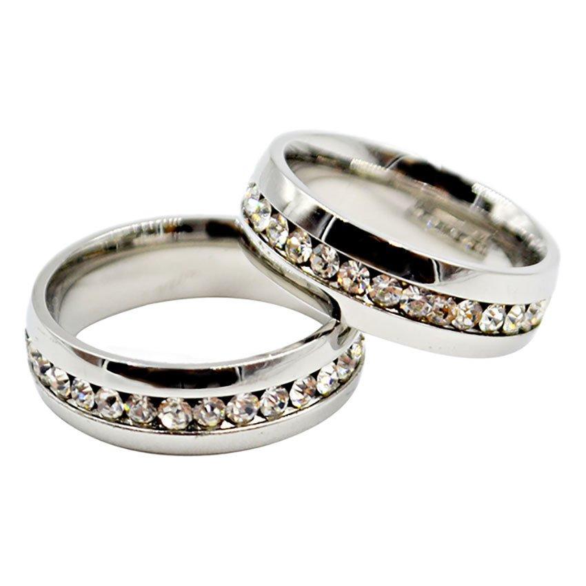 I Am Wengski Eternity Promise Couple Wedding Ring Silver Lazada Ph