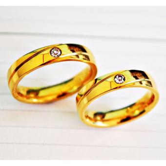 I am Wengski Henry Gold Couple Wedding Ring (Gold)