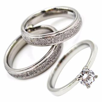 I am Wengski Santino Couple Wedding Ring (Silver) with I am WengskiPlain Engagement Ring (Silver)