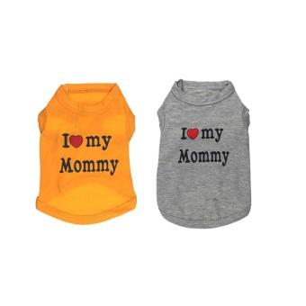 I Love Mommy Letter Backing Dog Cat Pet Vest For Backing Clothes -Orange L - intl - 3