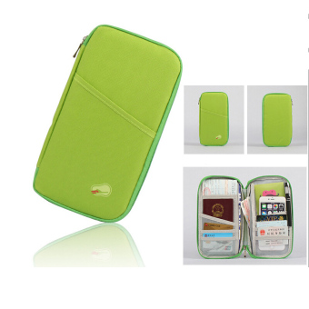 ID Card Wallet Passport Ticket Purse Organizer Bag Credit Card Holder Travel Storage Bag-Green