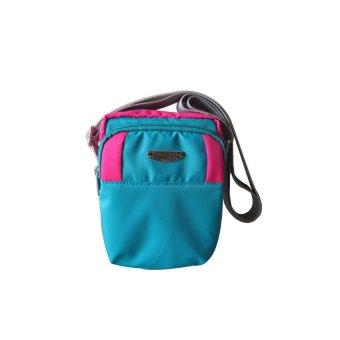 ILLUSTRAZIO Durashield Fashion Sling Bag (Mint Green Fuschia Pink)