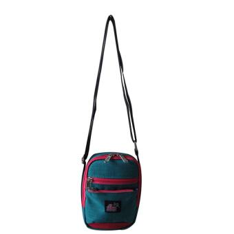 ILLUSTRAZIO Durashield Water Repellant Sling Bag (Blue Pink)