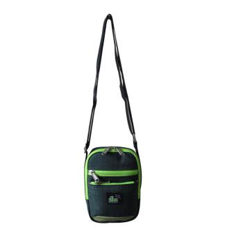 ILLUSTRAZIO Durashield Water Repellant Sling Bag (Green)