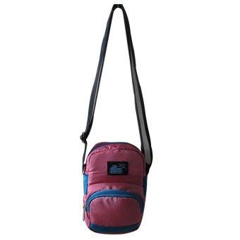 ILLUSTRAZIO High Density 420 Sling Bag (Pink Light Blue)