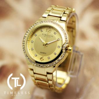Timeless Manila Patricia Crystal Studded Metal Watch (Gold) Price Philippines