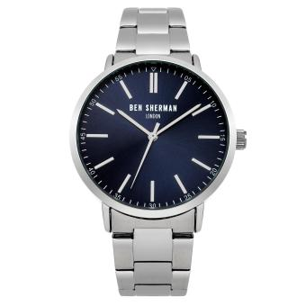 Harga Ben Sherman Men Silver Metal Strap Analog Watch WB061USM