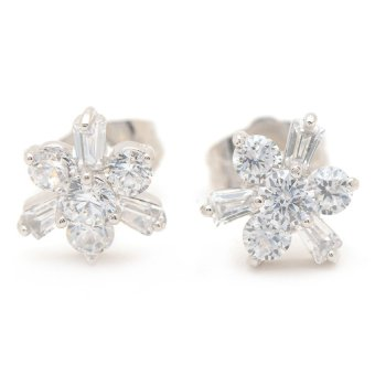 Harga Piedras Addie 27 Zirconium Earrings (White Gold)