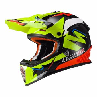 Harga LS2 Motard MX437 Volt Graphics Helmet (Black/Yellow/Orange)