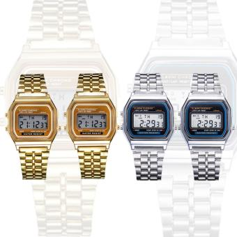 Harga Landfox Women's Gold Stainless Steel Strap Watch Set of 4 (Gold/Silver))