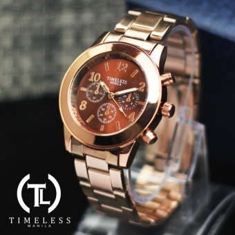 Timeless Manila Caitlyn Chrono Metal Watch (Bronze) Price Philippines